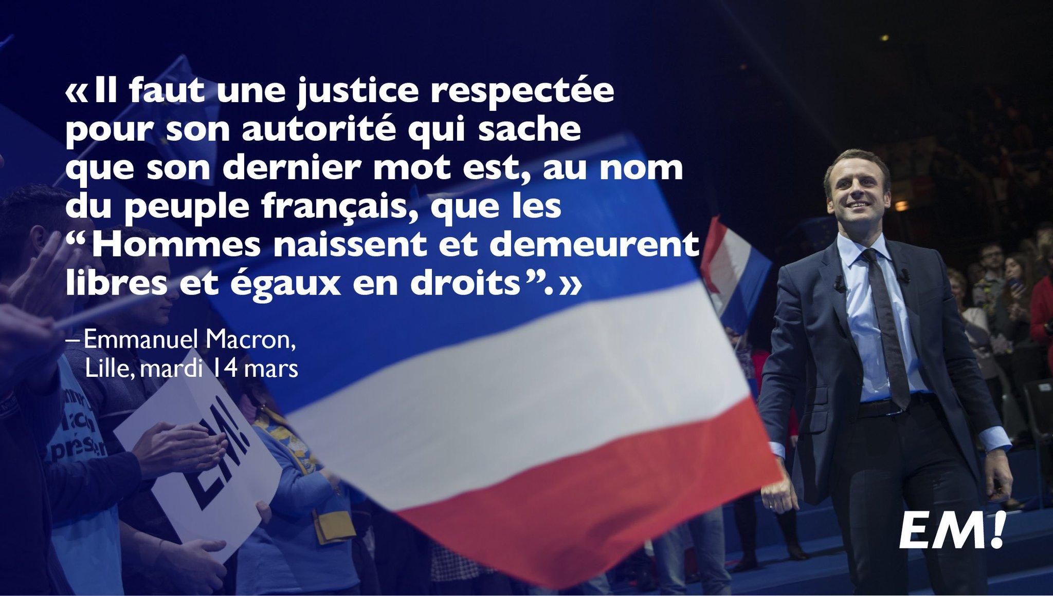 Une justice respectée, avec pour dernier mot : « Les Hommes naissent et demeurent libres et égaux en droits. » https://t.co/TWE0X3UYkG