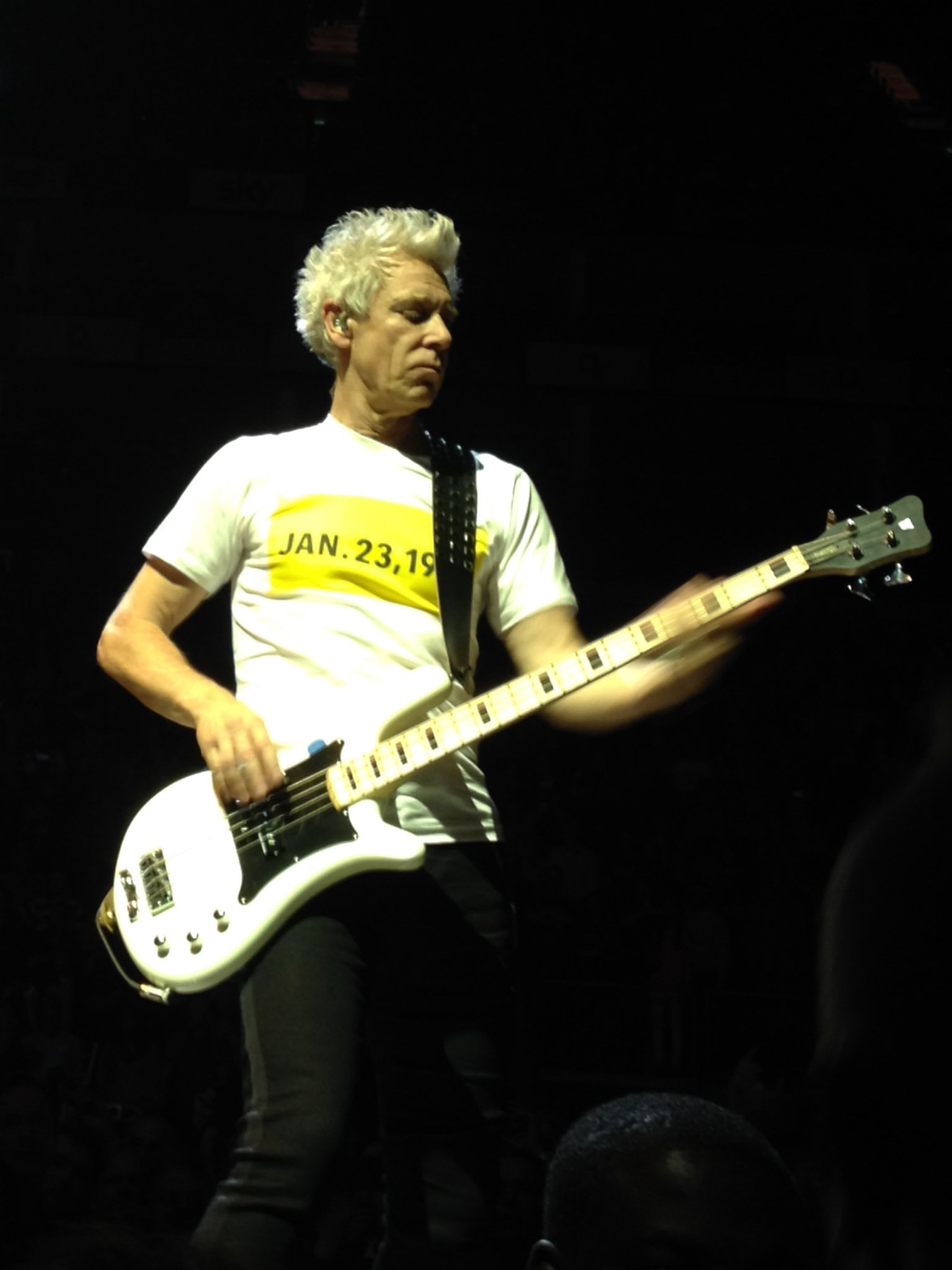 Happy Birthday Adam Clayton! Here\s a picture I took of the coolest bassist in rock: