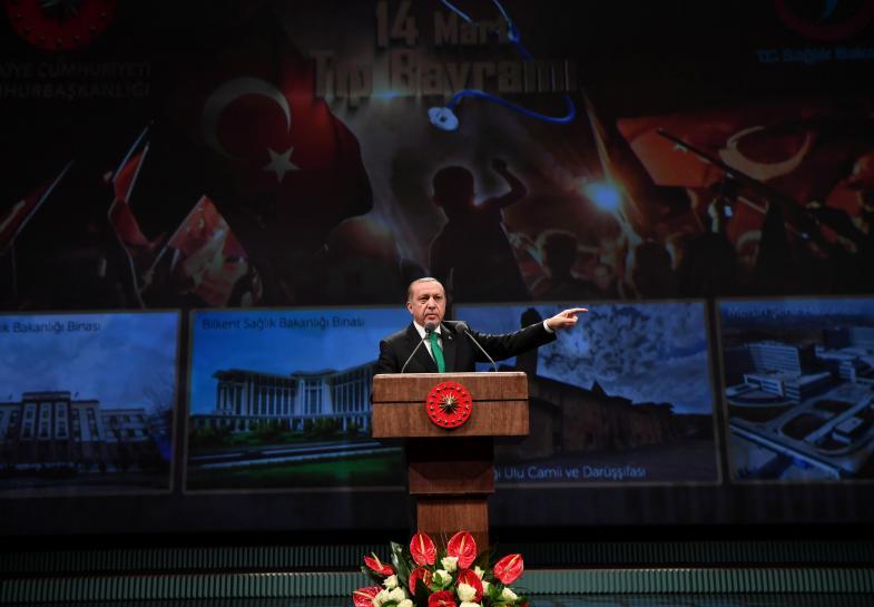 Turkey's Erdogan warns Dutch, minister floats economic sanctions