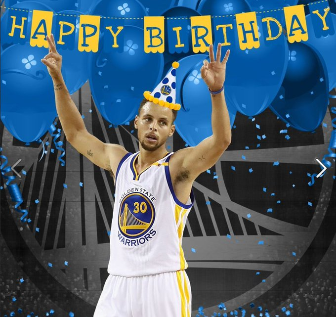 Happy Birthday Stephen Curry!