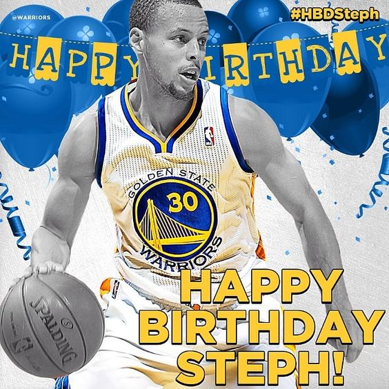 Happy Birthday Stephen Curry. The reigning 2-time turns 29 today.