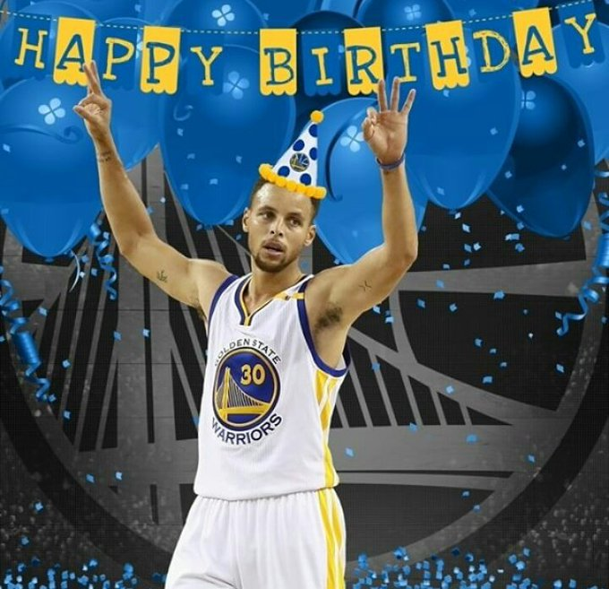 Happy Birthday to the 4-Time NBA All-Star, 2-Time NBA MVP, & a 1-Time NBA Champion, Stephen Curry!