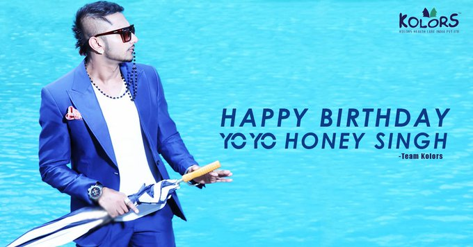 Team Kolors Wishes Honey Singh A Very Happy Birthday.