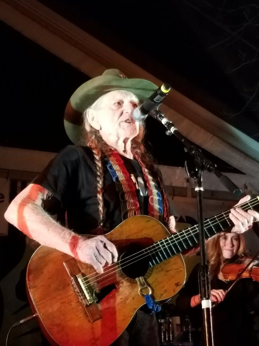 Great show with Willie Nelson & Ray Benson\s in at Happy Birthday Ray!