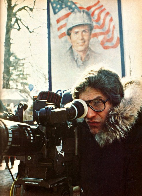 Happy 74th birthday to the great David Cronenberg, seen here on the set of \The Dead Zone\ (1983).