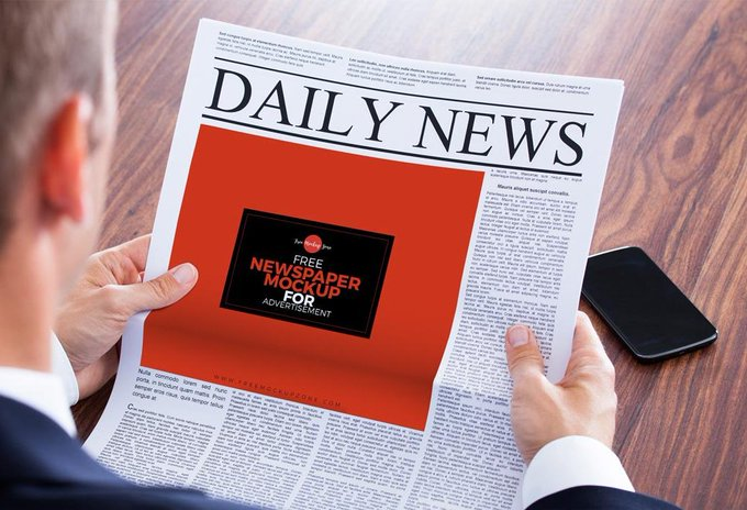 Newspaper Ad Mockup free freebie freebies mockup news newspaper