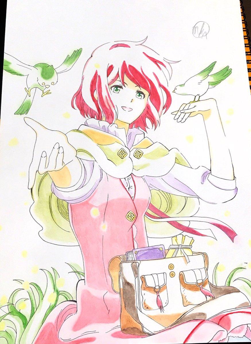 赤髪の白雪姫より白雪描きました⸜(๑⃙⃘'ᵕ'๑⃙⃘)⸝⋆*#赤髪の白雪姫#模写#色鉛筆