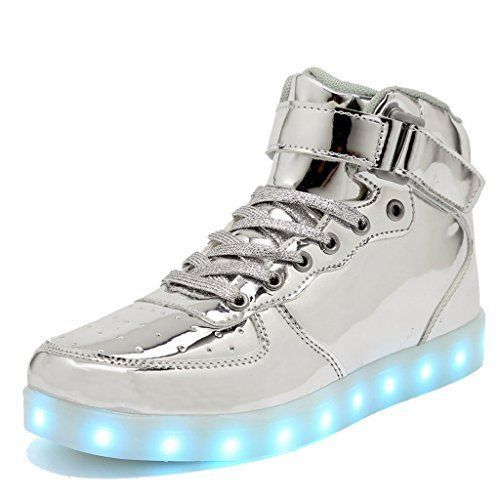 #fashion #style #giveaway CIOR Kids Boy and Girls High Top Led Sneakers Light Up Flashing Shoes For #TU #rt