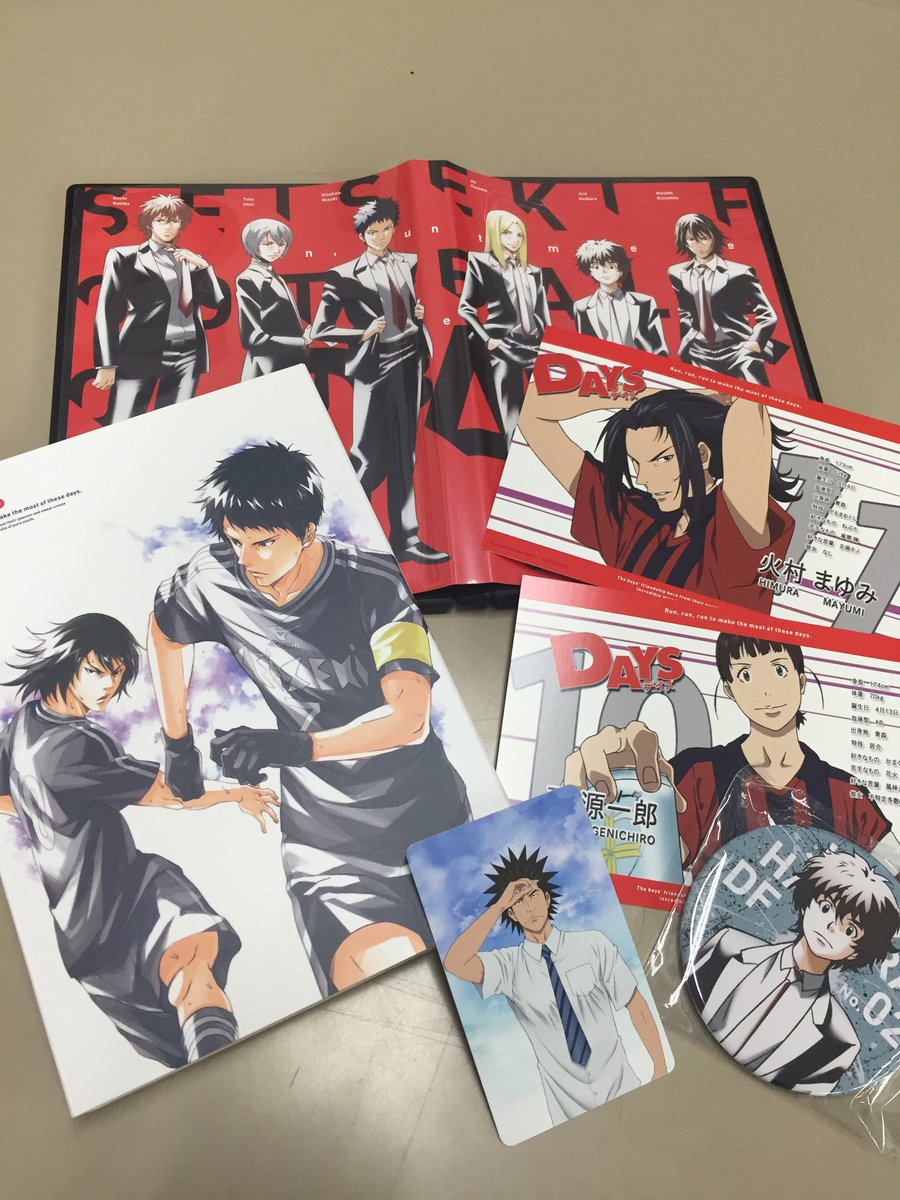 本日はTVアニメ「DAYS」第6巻の発売日です!だいぶトールケースのスーツメンバーも揃ってきました…!今回のブックレット