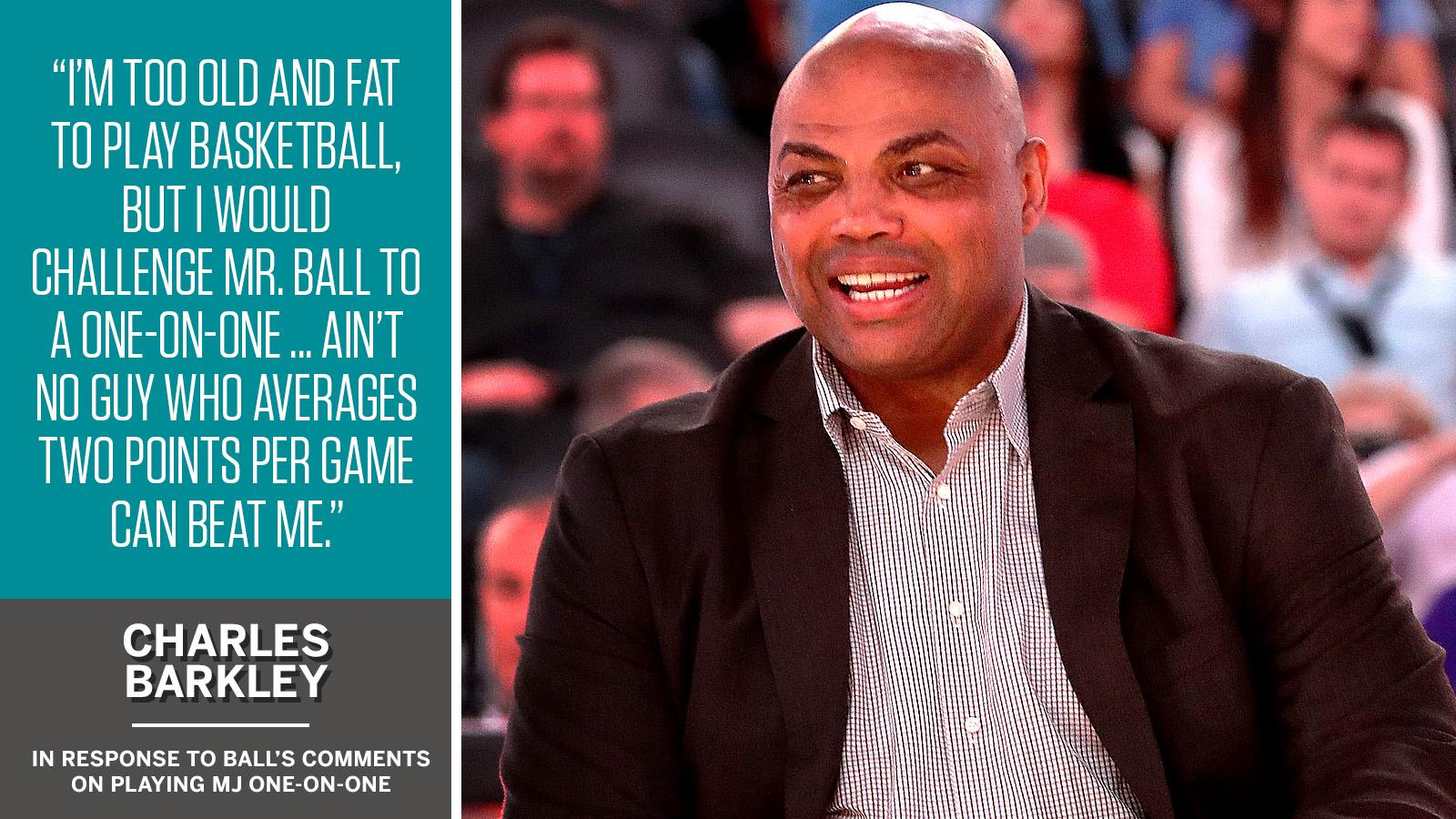Charles Barkley tells @MikeAndMike that LaVar Ball would have no chance against him. https://t.co/8H2enPSQYS https://t.co/TYfLCOD1gO