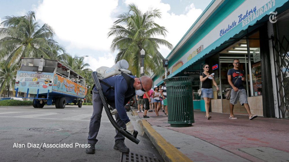 A Zika warning is Issued over sperm banks in the Miami area