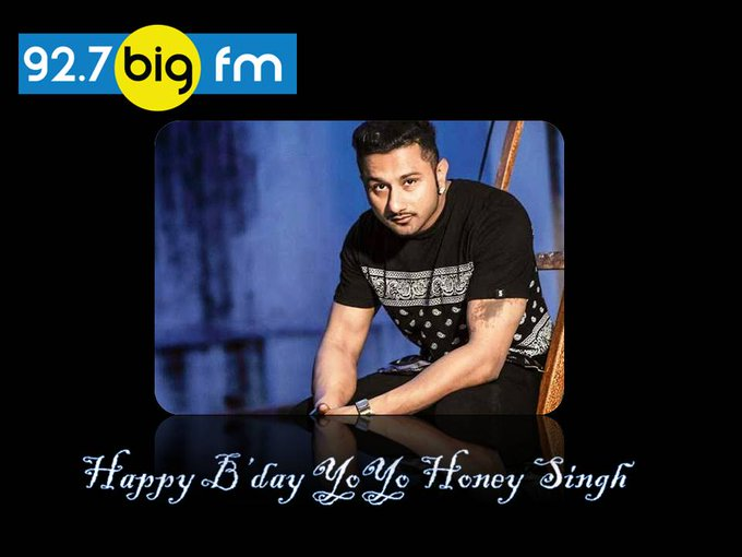 wishes Honey Singh a very happy birthday