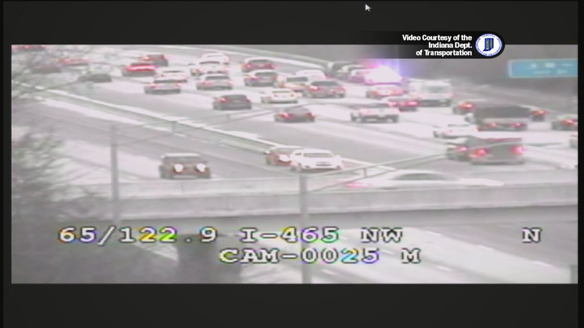 Better @indot camera view of accident at 465 and 65 on the nw side ...