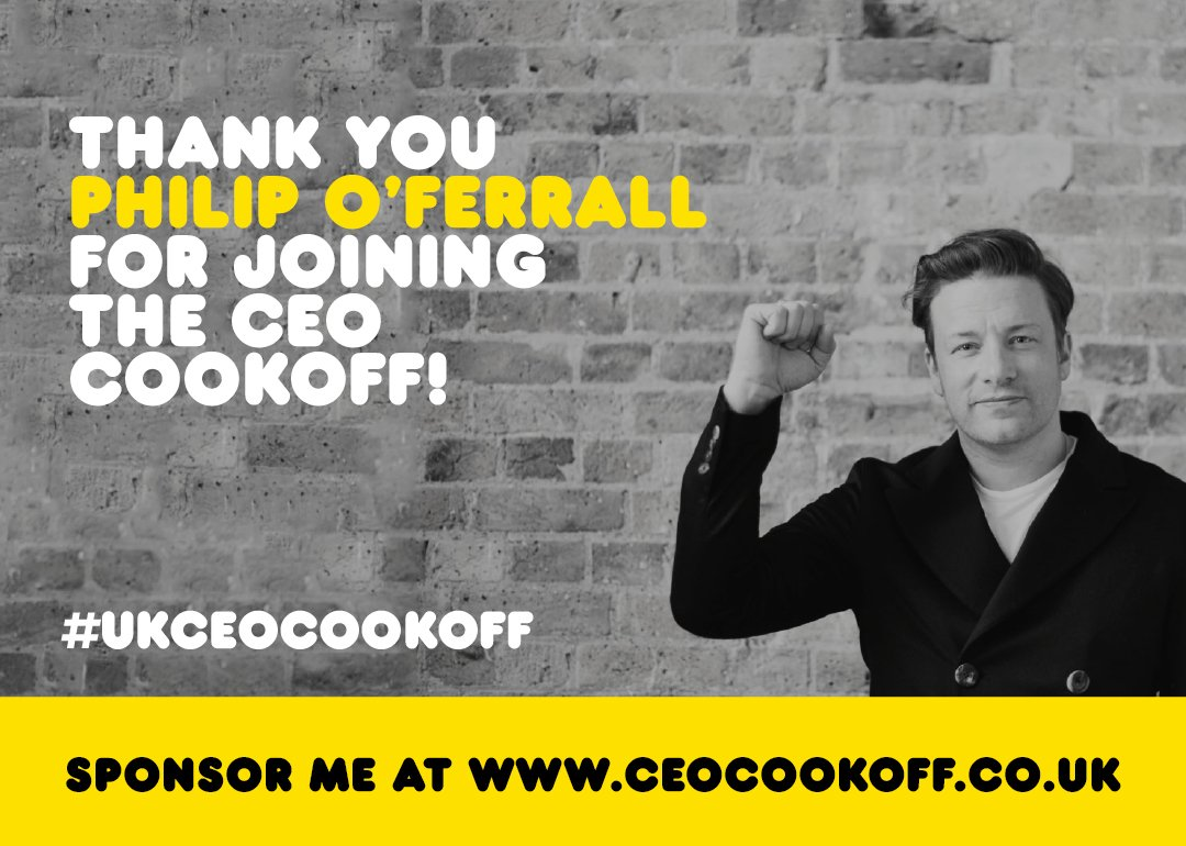 Shout out to @MTVoferrall @Viacom cheers for signing up to the #ukceocookoff I'll see you next week! https://t.co/zmewp2QPPG