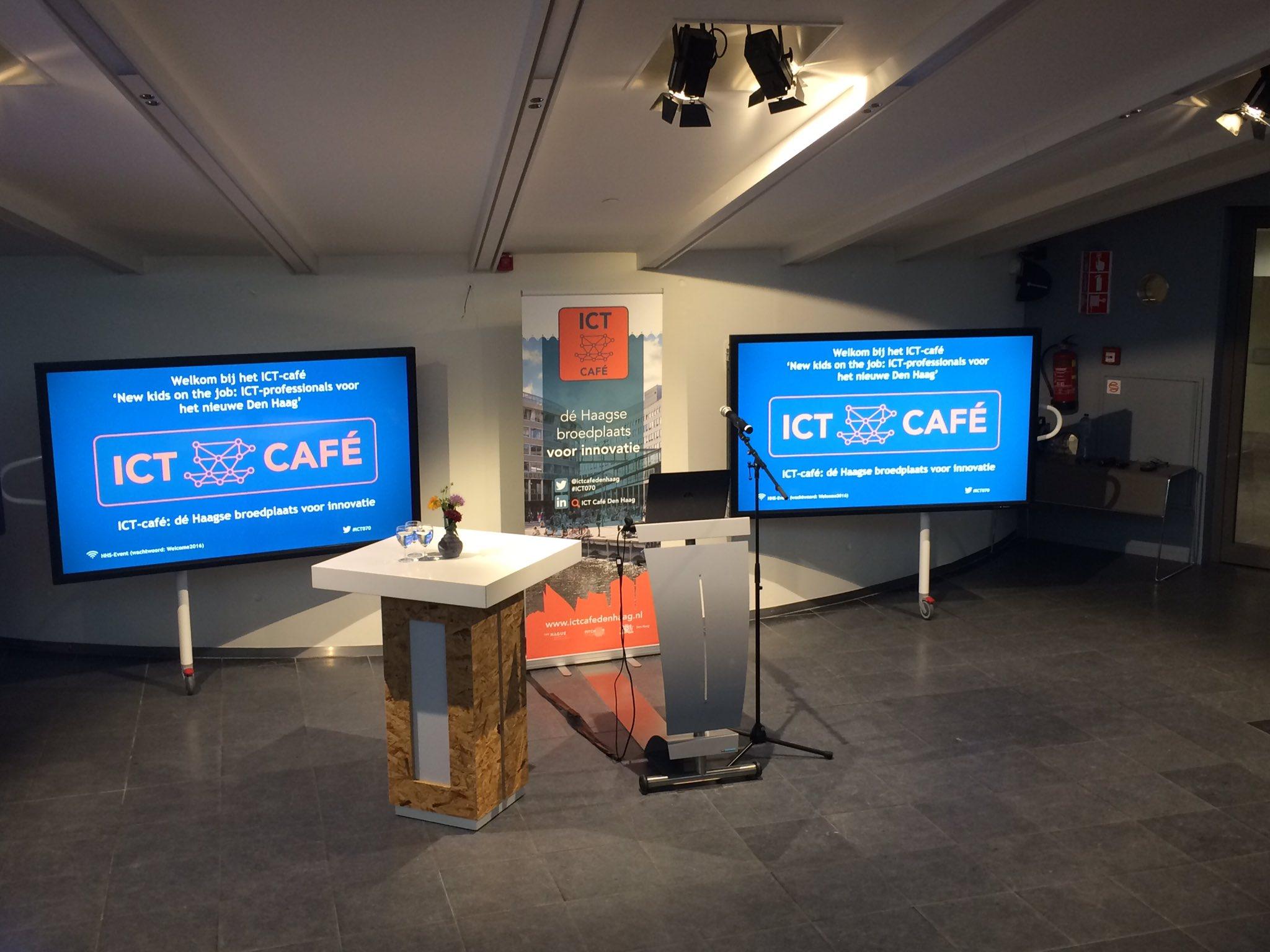 Ready when you are! #ICTCaféDenHaag #Haagsebroedplaats #innovatie #ICT070 #HaagseHogeschool #digitalisering #robotisering #onderwijs https://t.co/29JnCQlcDm