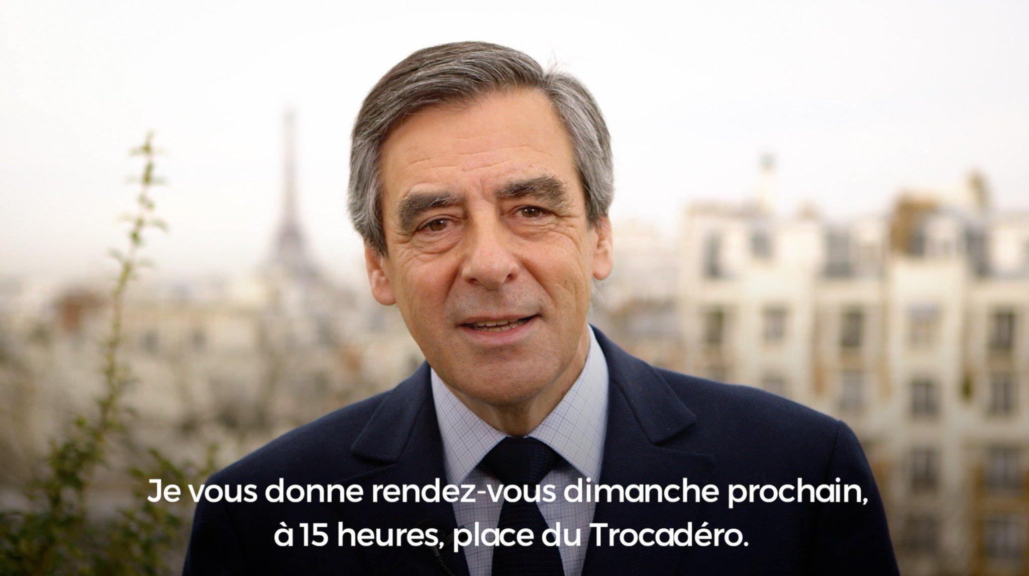 François Fillon s'adresse à vous avant le rassemblement dimanche au Trocadéro #TouchePasÀMonVote https://t.co/bhpOvuqd8x