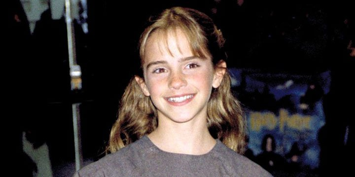 Emma Watson cringes at her first Harry Potter premiere outfit from 2001