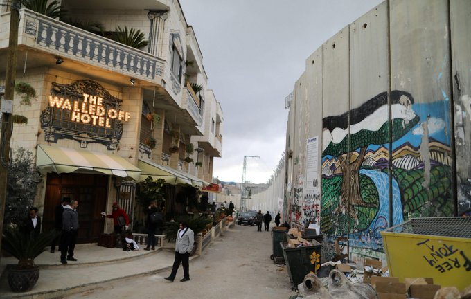 #Banksy takes on Israel's West Bank barrier with hotel featuring 'worst view in the world' https://t.co/l3zENkkl0o