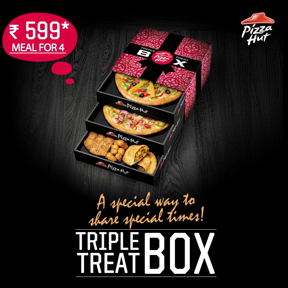 Make moments more memorable with Pizza Hut s TripleTreatBox ThinkPizzaThinkPizzaHut https t.co WrJ4wILyJC