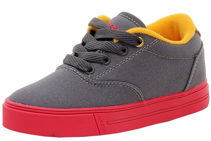 #fashion #style #giveaway Heelys Boy's Launch Fashion Charcoal/Neon Red/Orange Canvas Skate Sneakers Shoes #rt