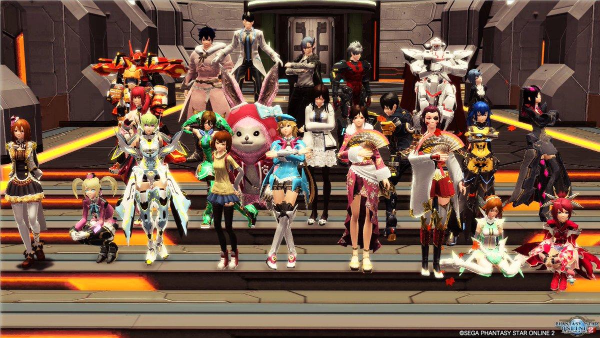 PSO2アニメ集会に見学として穂乃果ちゃんで参加してきました先に集合写真から載せておきます次回も絶対見に来ます! #PS