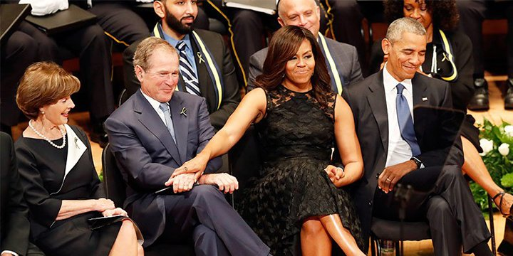 George W. Bush explains how he and Michelle Obama 'just took to each other'