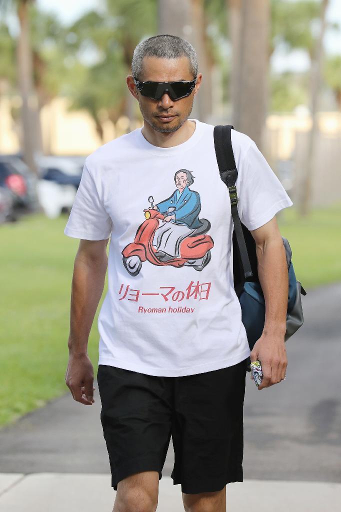 イチロー「リョーマの休日」Tシャツで登場 https://t.co/UYc51HtYC2