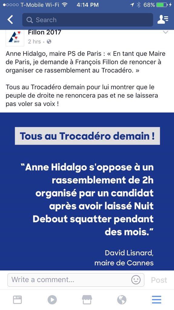 Nous serons au Trocadéro en soutien @FrancoisFillon On ne nous volera pas notre vote #FillonPresident https://t.co/eG84dpYgPu