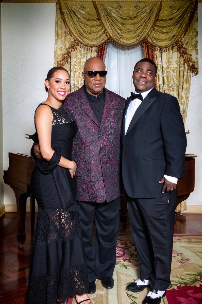 Me, my wife @IAMMeganMorgan and the LEGEND #StevieWonder at @nyphospital Gala ????:Kellie Walsh/Rupert Rogers https://t.co/Ere3ElIi53