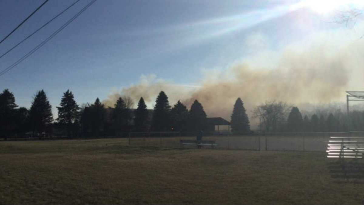 Fire crews work to put out fire at Monroe County church