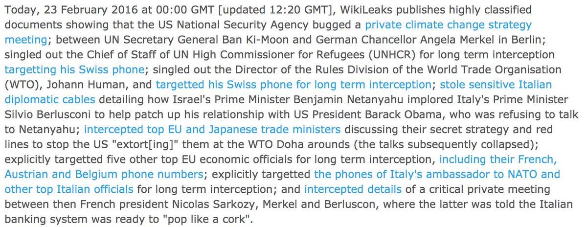 Obama has a history of tapping & hacking his friends and rivals     https://t.co/XbwyNSwTXg  #NSA #PRISM #Merkel#Sarkozy#BanKiMoon#WTO#Trump