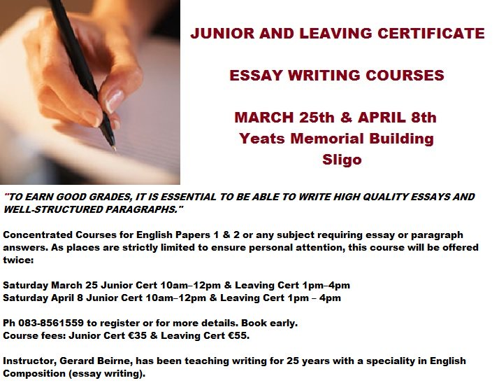 Write my how to write an essay for junior cert