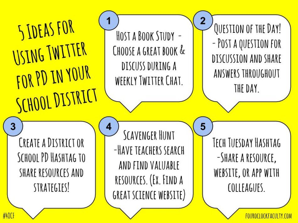 5 Ideas for Using Twitter for PD in your School District https://t.co/BretzTDMNn