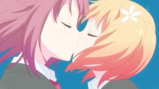 桜Trick1話視聴完了!とりまキスシーン多かった(最高です(*´﹃`*))あと、なんかシャフトじゃないのにすごいシャフ