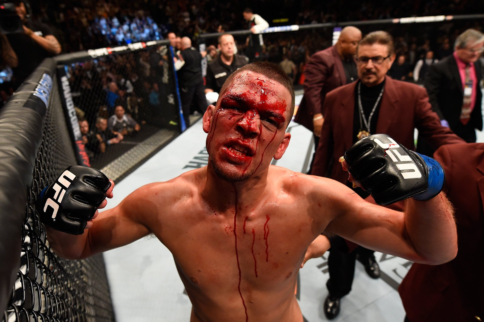 One year ago today, Nate Diaz took down McGregor and made history. https://t.co/dPwuLMzoIo