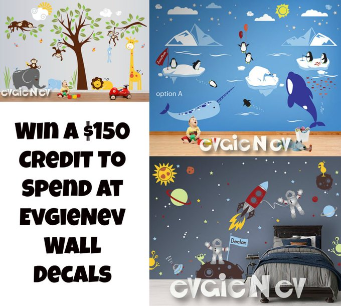 $150 EvgieNev Wall Decal #Giveaway