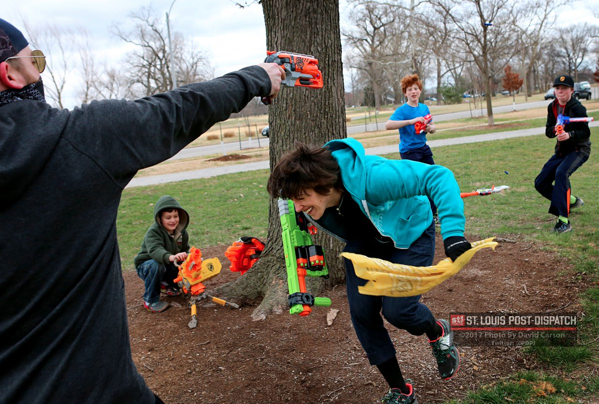 Nerf gun battle in @ForestPark4Ever. Nerf Thunderdome STL meets monthly to  geek out &