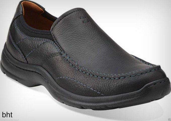 #fashion #style #giveaway Clarks Mens Niland Energy Slip On Loafer Black Tumbled Leather Casual Shoe 01949 #rt