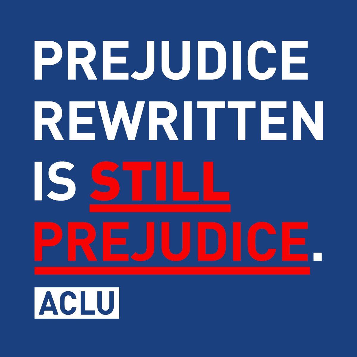RT @ACLU: The new Muslim ban is still a Muslim ban. #MuslimBan2   ACLU comment: https://t.co/rigBKhNEGw https://t.co/p7oxSEYnTj