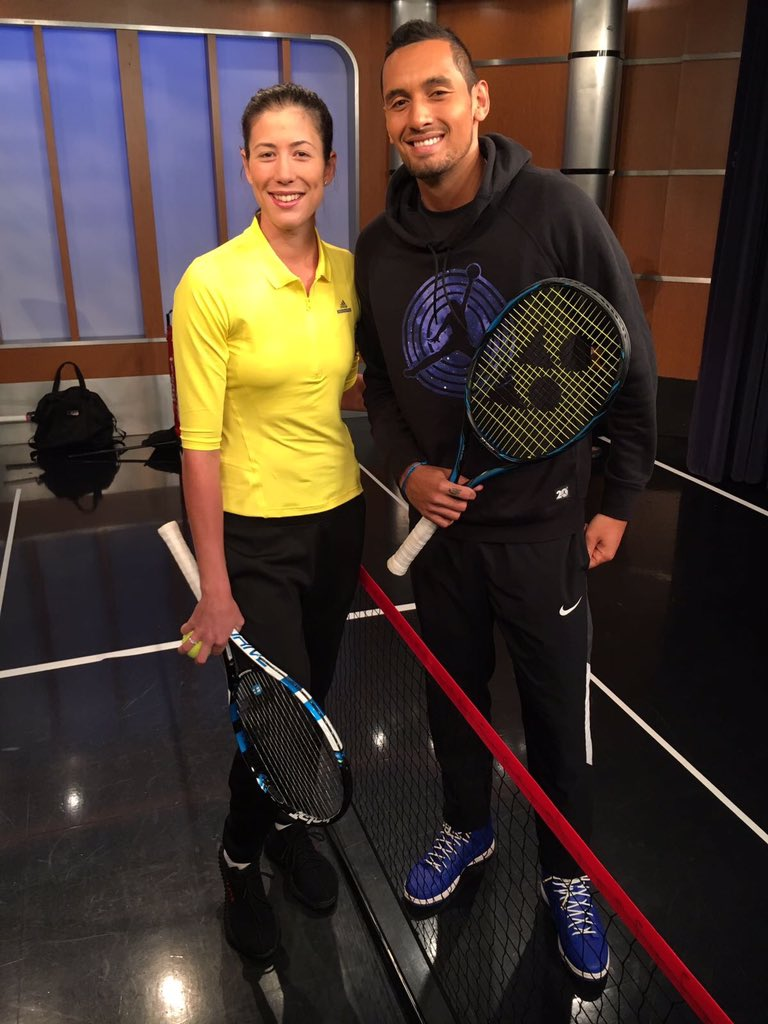 This morning with @NickKyrgios at @foxandfriends  ���� #WorldTennisDay https://t.co/eOuTef0Bqh