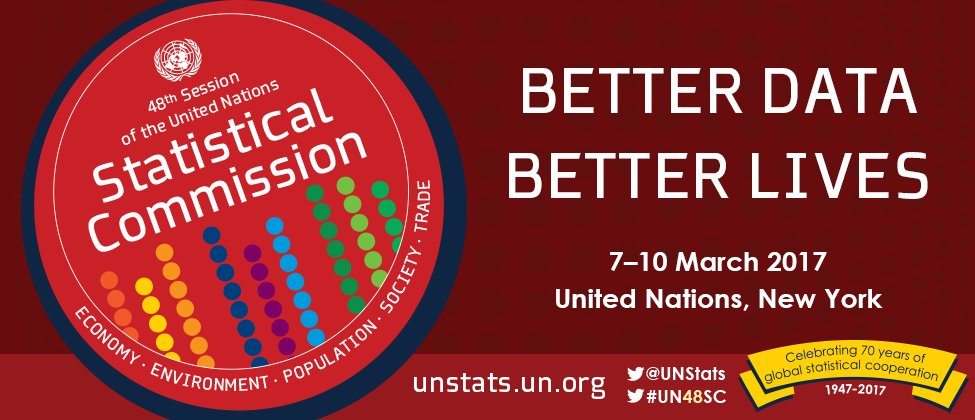 Starts today in NYC: @UNStats Commission Meetings, see: https://t.co/dlKFdqQxRJ #UN48SC #UNDESA70 https://t.co/ogl3flJKBk