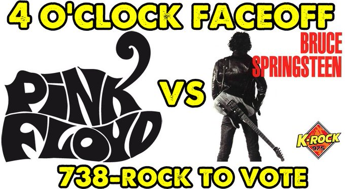 4 O\Clock FaceOff - Happy birthday David Gilmour Pink Floyd vs Bruce Springsteen Vote on the ROCKLINE, 738-ROCK