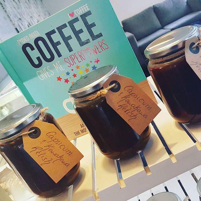 Tuesday 7 March, 8:40 a.m. - Take a piece of tuihana away with you. Our homemade capsicum & kawakawa relish #relish  #kawakawa #goodwithanything #homemade