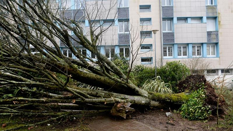 Winter storm Zeus brings death and destruction to France