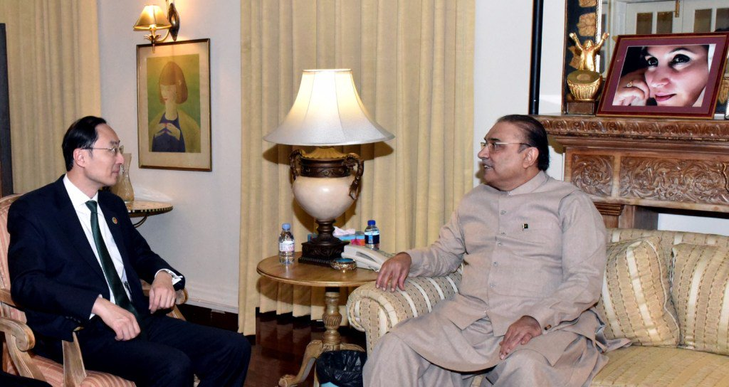 #Chinese Ambassador to #Pakistan called on Former President @AAliZardari https://t.co/mpCSzffPHr https://t.co/wjYFm6RnHZ