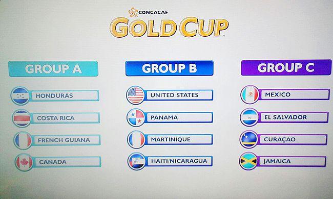 Gold Cup : La Guyane avec le Honduras et le Canada
