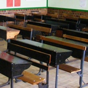 PIC: 70-year-old man sits for primary school exam, hopes to go to university