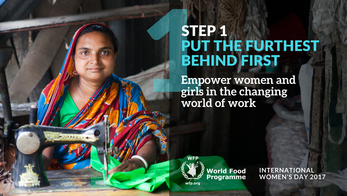 Empowering women empowers humanity. @WFP #BeBoldForChange info is here:  https://t.co/nMjW6lkmiF #WomensDay https://t.co/BAM7CSqzgi