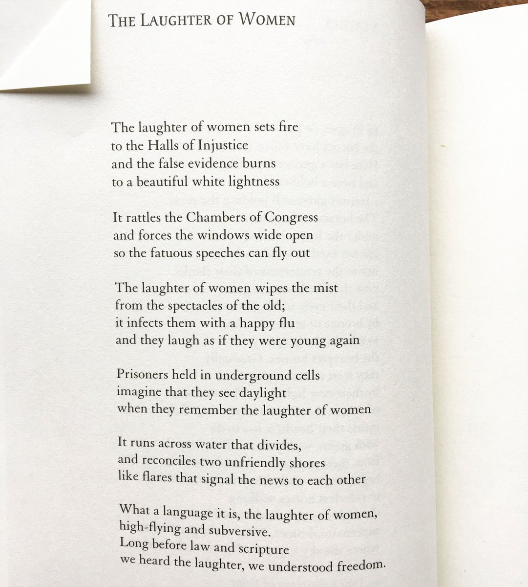 For #InternationalWomensDay, this gift of a poem by Lisel Mueller