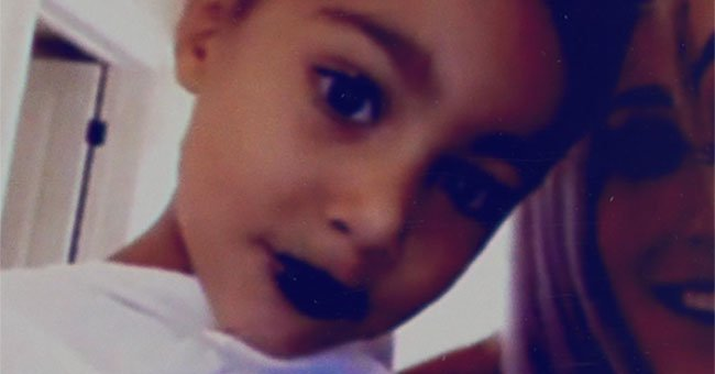 Do YOU think North West is too young for lipstick? Some of Kim Kardashian's followers do...